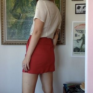 Red Canvas Skirt - Urban Renewal